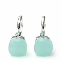 LLATO NUDO ™ EARRINGS IN 925 STERLING SILVER WITH SYNTHETIC JADE