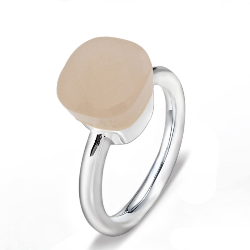 LLATO NUDO ™ Ring IN 925 STERLING SILVER WITH LIGHT PINK QUARTZ