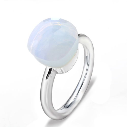 LLATO NUDO ™ Ring IN 925 STERLING SILVER WITH MOONSTONE