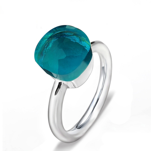 LLATO NUDO ™ Ring IN 925 STERLING SILVER WITH BLUE LONDON TOPAZ