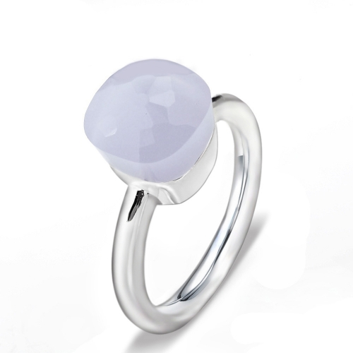 LLATO NUDO ™ Ring IN 925 STERLING SILVER WITH LAVANDE QUARTZ
