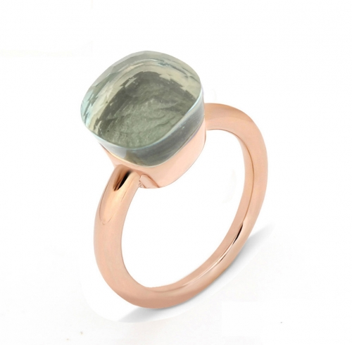 LLATO NUDO ™ Ring IN ROSE GOLD WITH BLUE TOPAZ TOP SALE
