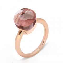 LLATO NUDO ™ Ring IN ROSE GOLD WITH WINE TOPAZ