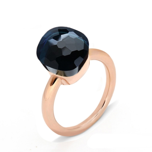 LLATO NUDO ™ Ring IN ROSE GOLD WITH BLUE QUARTZ BEST GIFTS FOR WOMAN