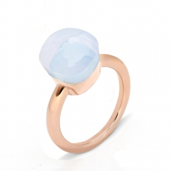 LLATO NUDO ™ Ring IN ROSE GOLD WITH MOONSTONE