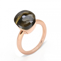 LLATO NUDO ™ Ring IN ROSE GOLD WITH SMOKY Quartz