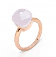 LLATO NUDO ™ Ring IN ROSE GOLD WITH PINK QUARTZ
