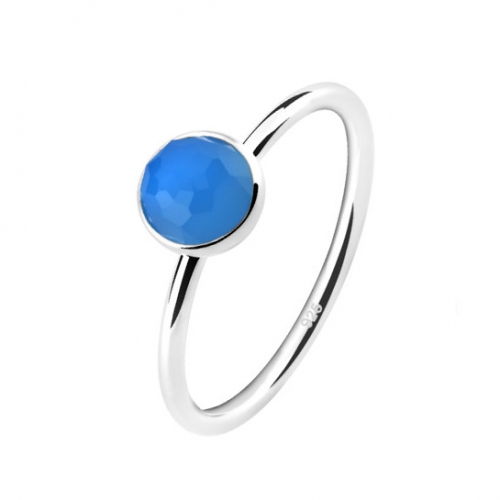 LLATO NUDO ™ Ring in 925 Sterling silver With MINI Blue Quartz Stone