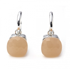 LLATO NUDO ™ EARRINGS IN 925 STERLING SILVER WITH LIGHT PINK QUARTZ