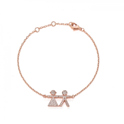 CARWENIYA® Lovely Rose Gold Lovers Bracelet For Women Gift Beautiful Jewelry