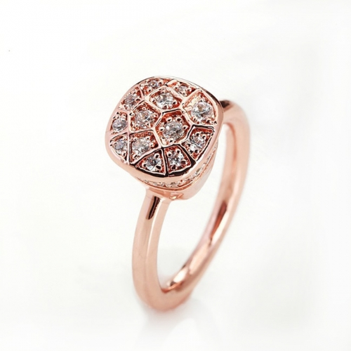 LLATO NUDO ™ RING IN ROSE GOLD AND POLISHED WITH ZIRCON