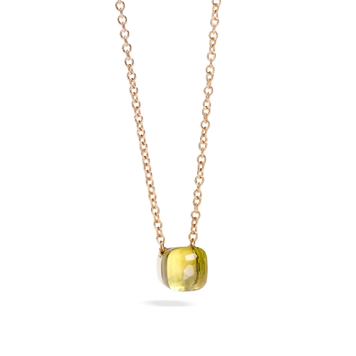 LLATO NUDO ™ PENDANT WITH LEMON QUARTZ AND CHAIN IN ROSE GOLD