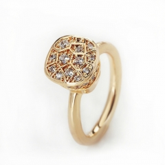 LLATO NUDO ™ RING IN 18K GOLD AND POLISHED WITH ZIRCON