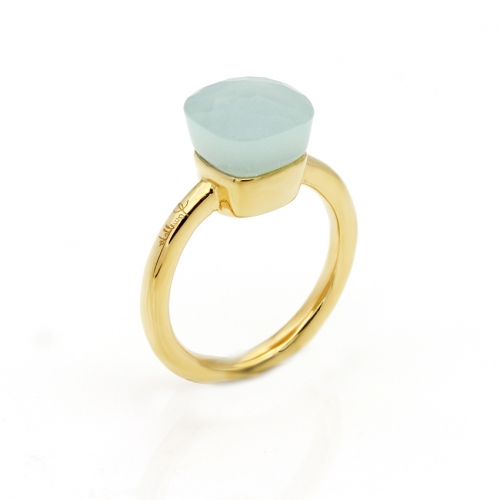 LLATO NUDO ™ Ring IN 18K GOLD WITH GREEN JADE