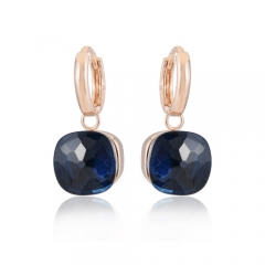 LLATO NUDO ™ EARRINGS IN 18k ROSE GOLD WITH BLUE QUARTZ HOT SALE