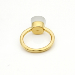LLATO NUDO ™ Ring IN 18K GOLD WITH WHITE JADE