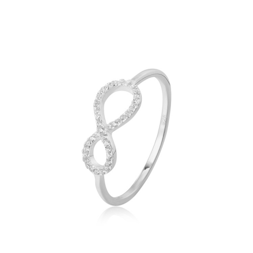 CARWENIYA® Infinity Ring In 925 Sterling Silver With Zircon